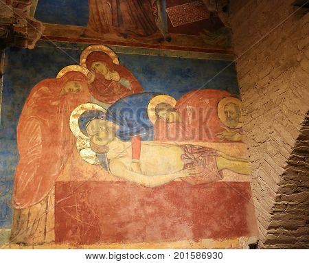 Fresco In Crypt Of Siena Cathedral