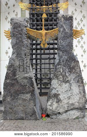 KIEV, UKRAINE - MAY 3, 2011: This is fragment of sculpture composition of Memorial to Victims of The Holodomor.