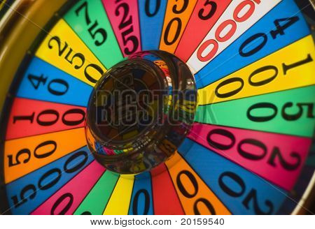 colorful closeup of wheel of fortune