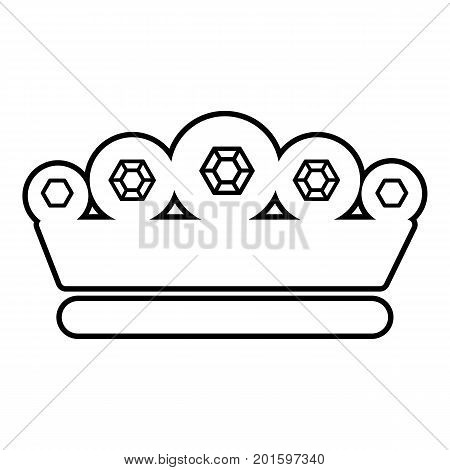 King crown icon. Outline illustration of king crown vector icon for web