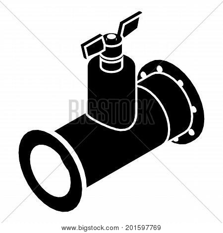 Pipe tap icon. Simple illustration of pipe vector icon for web