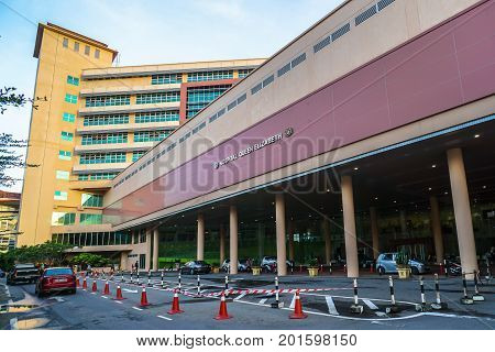 Kota Kinabalu,Sabah-Aug 8,2017:The Hospital Queen Elizabeth in Kota Kinabalu,Sabah is the main hospital for the city & the whole Sabah.It is named after the Queen Elizabeth II of United Kingdom.