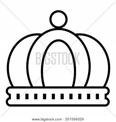 Empire crown icon. Outline illustration of empire crown vector icon for web