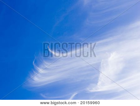 Swept clouds in the sky