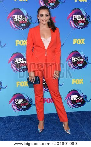 LOS ANGELES - AUG 13:  Kendall Vertes arrives for the Teen Choice Awards 2017 on August 13, 2017 in Los Angeles, CA