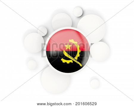 Round Flag Of Angola With Circles Pattern