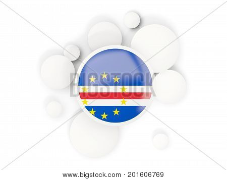 Round Flag Of Cape Verde With Circles Pattern