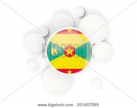Round Flag Of Grenada With Circles Pattern