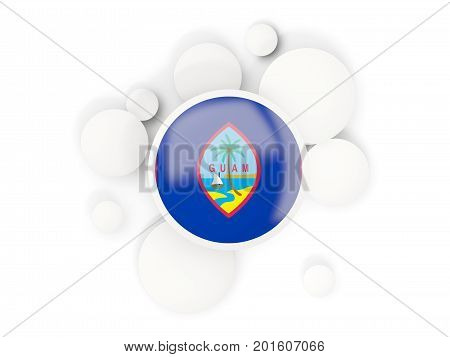 Round Flag Of Guam With Circles Pattern