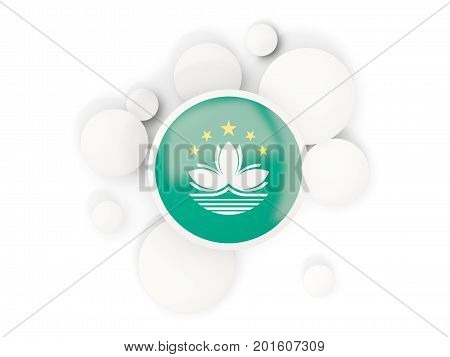 Round Flag Of Macao With Circles Pattern