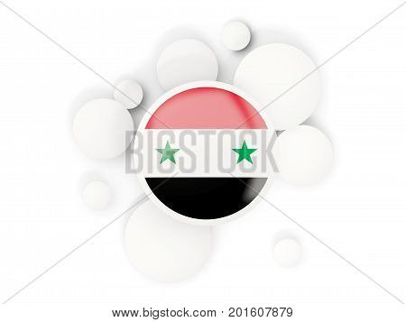 Round Flag Of Syria With Circles Pattern
