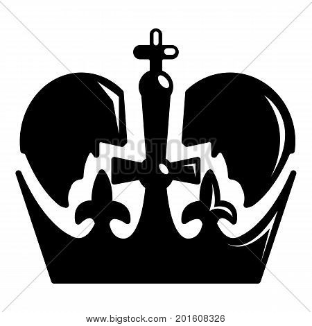 Monarch crown icon. Simple illustration of monarch crown vector icon for web