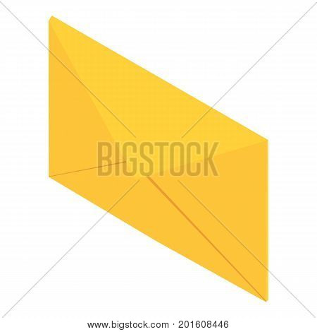 Post envelope icon. Isometric illustration of post envelope vector icon for web