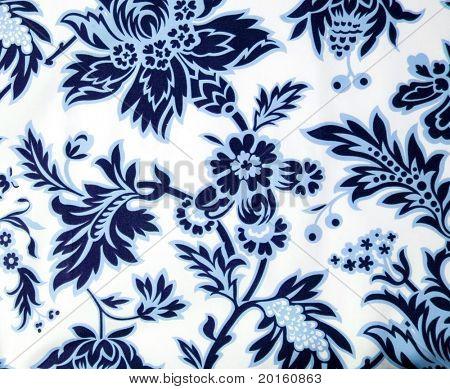 blue paisley background