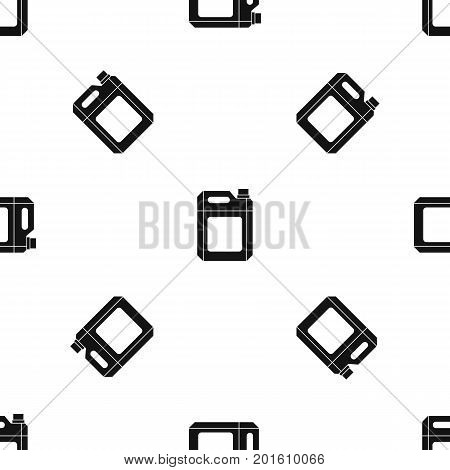 Plastic jerry can pattern repeat seamless in black color for any design. Vector geometric illustration