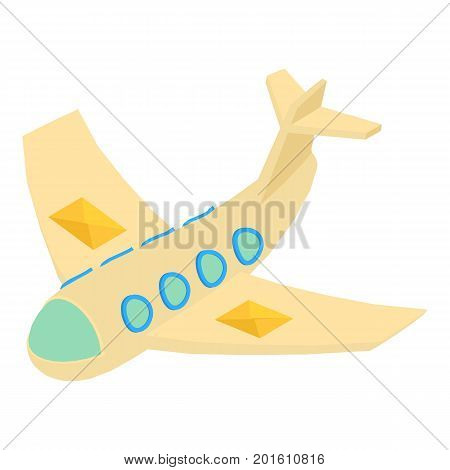 Mail plane icon. Isometric illustration of mail plane vector icon for web