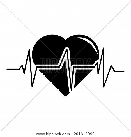 Heart pulse icon. Simple illustration of heart pulse vector icon for web