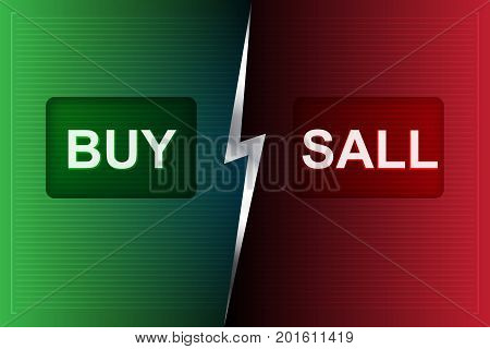 BUY and SELL Buttons on digital processing Background Interface technology future background