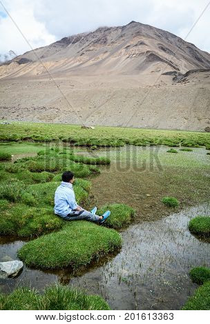 Mountain Scenery In Ladakh, Northern India