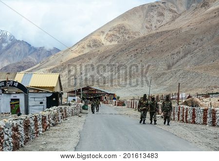 Military Base In Ladakah, Northern India