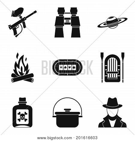 Poison icons set. Simple set of 9 poison vector icons for web isolated on white background
