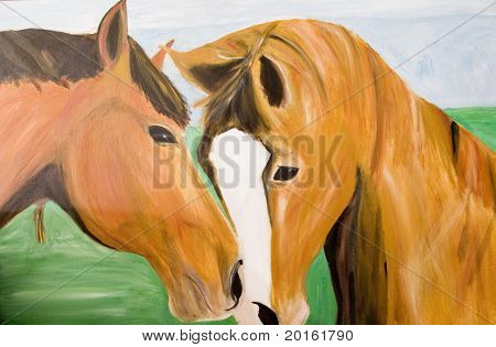 horses painted by photographer