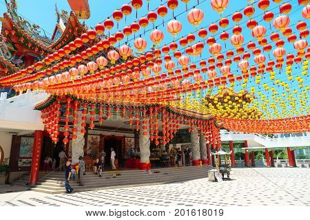 Prayer Hall Entrance In Chinese Temple