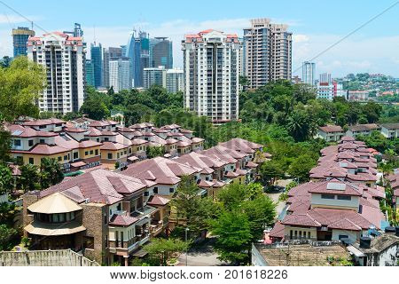 Kuala Lumpur Modern City Skyline