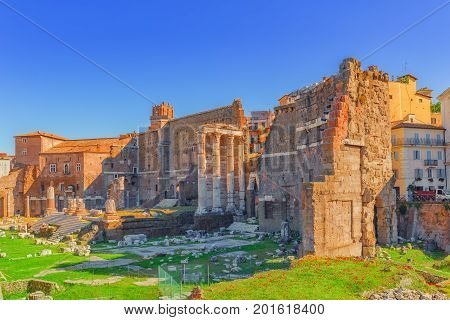 Landscape Of The  Rome- One Of Most Beautiful Cities In The World: Trajan's Forum (foro Traiano), Th