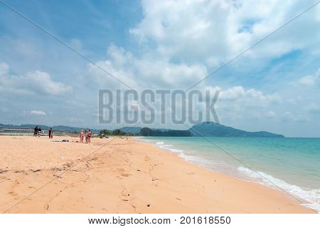 Sandy Long Mai Khao Beach On Phuket Island