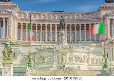 The Square Of Venice (piazza Venezia).institute For The History Of The Italian Risorgimento And Monu
