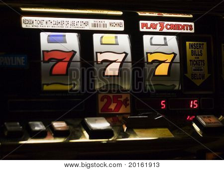 triple 7's at slot machine