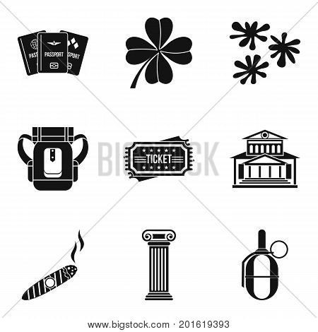 Gambling house icons set. Simple set of 9 gambling house vector icons for web isolated on white background