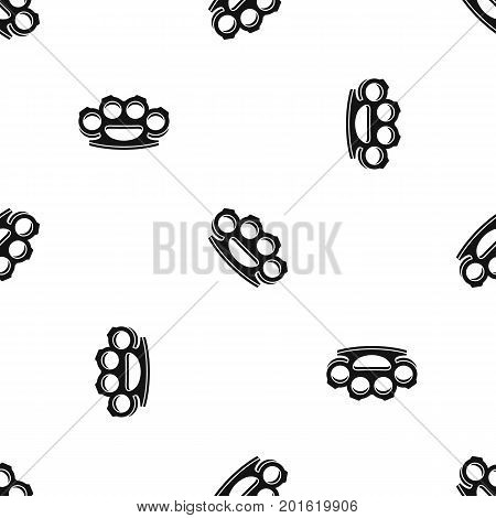 Brass knuckles pattern repeat seamless in black color for any design. Vector geometric illustration