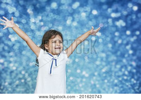 Little Girl Child Cute And Beautiful Background Glare Happy Happy