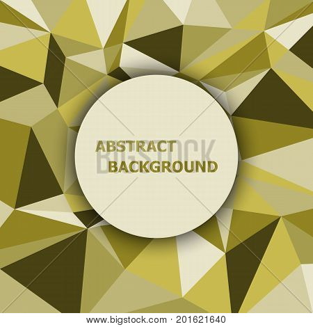 Yellow polygon abstract triangle background, stock vector