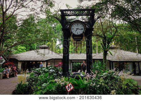 World Clock In Singapore Botanic Gardens