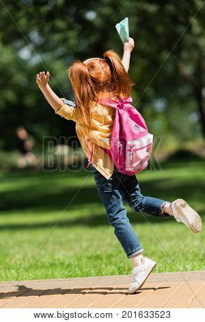 Happy Redhead Schoolchild