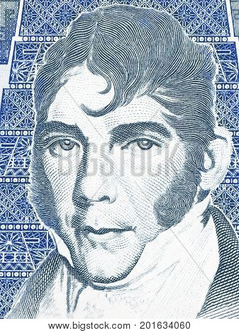Mariano Galvez portrait from Guatemalan money - quetzal