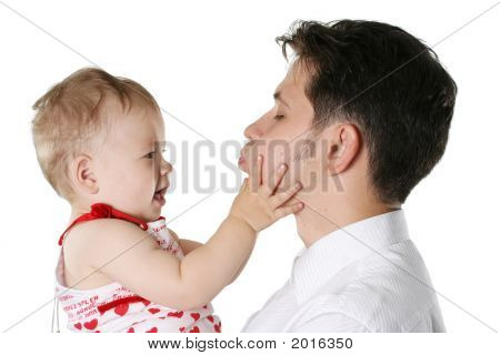Isolated Father With Child