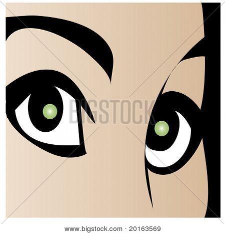 beautiful  big eyes illustration
