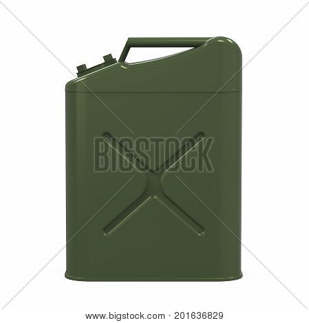 Jerry Can isolated on white background. 3D render