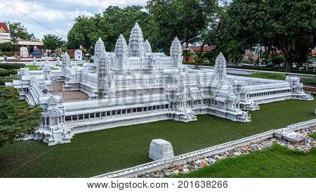 Mini Siam, Pattaya, Chonburi Province, Thailand. - NOVEMBER 1, 2015 : Cambodia's Angkor Wat landmark of Cambodia at Mini Siam miniature park attraction.