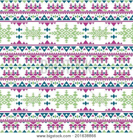 Peruvian aztec vector seamless pattern. Boho style mexican indigenous repetitive texture. National pattern color indigenous latin illustration