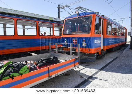 The Rack Train That Reaches The Summit Of Mount Generoso