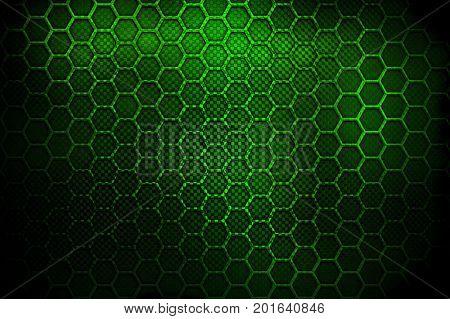 honeycomb metal design background