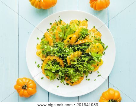 Yellow Tomatoes Salad
