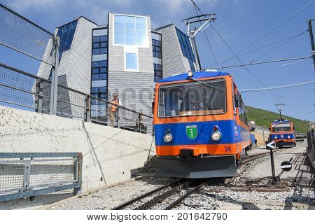 The Rack Train That Leaves The Summit Of Mount Generoso