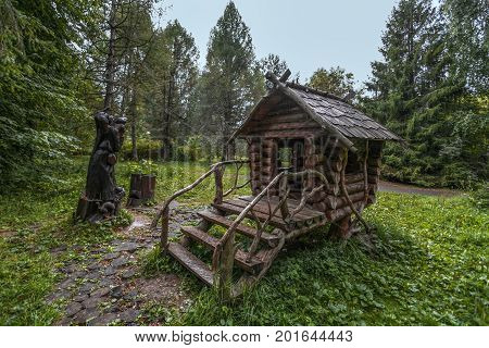 the rain over the house of trolls in the Russian wood went three days and three nights