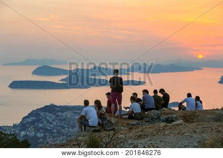 Tourists On Srd Hill